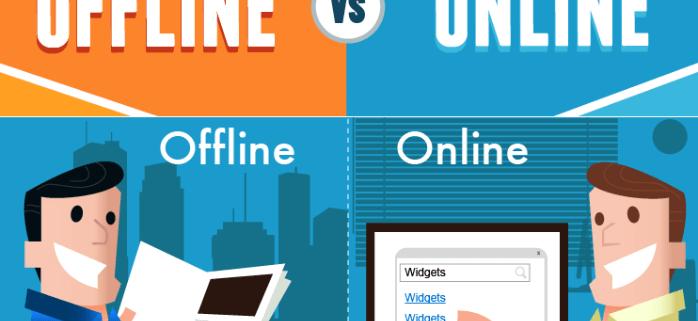 So sánh quảng cáo online và offline